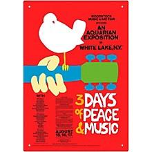Hal Leonard Woodstock Red Tin Sign