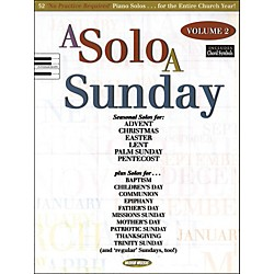 Word Music A Solo A Sunday Volume 2 Piano Solo (309460)