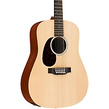Martin X Series D12X1AE-L Dreadnought Left-Handed 12-String Acoustic-Electric Guitar