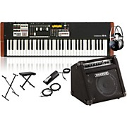 Hammond XK-1c Portable Organ with Keyboard Amplifier, Stand, Headphones, Bench and Sustain Pedal