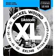 D'Addario XL148 Nickel-Wound, Drop C Tuning Electric Guitar Strings