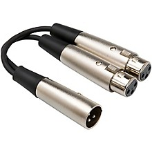 Hosa XLR Male to Dual XLR Female Y-Cable