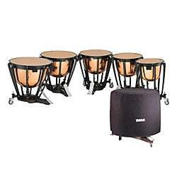 YAMAHA 6300 Series Intermediate Polished Copper Timpani Set with Long Covers (TP6332CL)