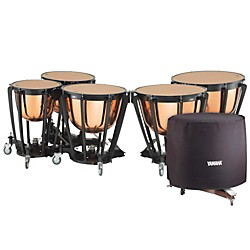 YAMAHA 7300 Series Professional Hammered Copper Timpani Set with Long Cover (TP7304CL)