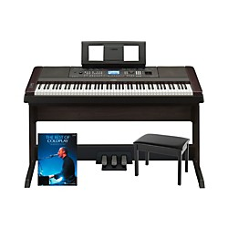 YAMAHA Yamaha DGX-650 Platinum Bundle with Bench & Songbook (Yamdgx650promo)