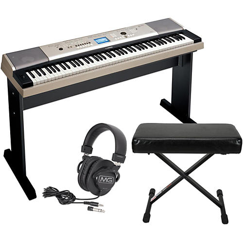 Yamaha YPG535 88Key Portable Grand Piano Keyboard with Bench and Headphones-thumbnail