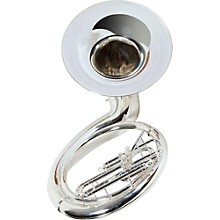 Yamaha YSH-411SWC Series Brass BBb Silver Sousaphone with Hard Case