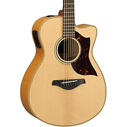 Yamaha AC1FMHC A-Series Flame Maple Concert Acoustic-Electric Guitar with SRT Pickup (AC1FMHC)