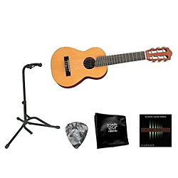 Yamaha Beginner 1/2 Scale Nylon Guitarlele Bundle (YAM Mini Nyl GTRlele BNDL)
