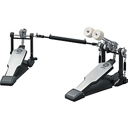 Yamaha Double Bass Drum Pedal, Double Chain Drive with Long Footboards (DFP-8500C)