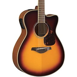 Yamaha FSX730SC Solid Top Concert Cutaway Acoustic-Electric Guitar (FSX730SC BS)