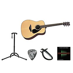Yamaha Full Scale Beginner Steel String Dreadnought Acoustic Guitar Bundle (YAM FG700S AE BNDL)
