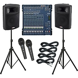 Yamaha MG166C-USB / Harbinger APS15 PA Package (KIT883648)