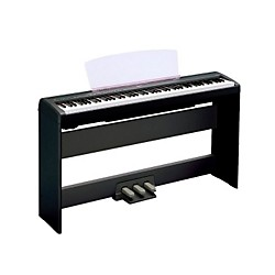 Yamaha P-105 88-Key Weighted-Action Digital Piano with L85 Wood Stand (P105BWL85)