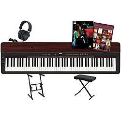 Yamaha P-155 Rosewood Keyboard Package 1 (YAMP155RKP1)