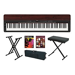 Yamaha P-155 Rosewood Keyboard Package 4 (YAMP155RKP4)