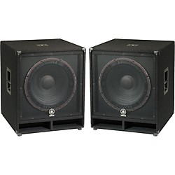 "Yamaha SW118V Club Series V 18"" Subwoofer Pair (KIT773227)"