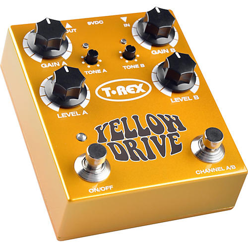 T-Rex Engineering Yellow Drive Distortion Guitar Effects Pedal-thumbnail