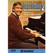 Homespun You Can Play Jazz Piano (DVD Two: Basic Keyboard Harmony) Homespun Tapes Series DVD by Warren Bernhardt