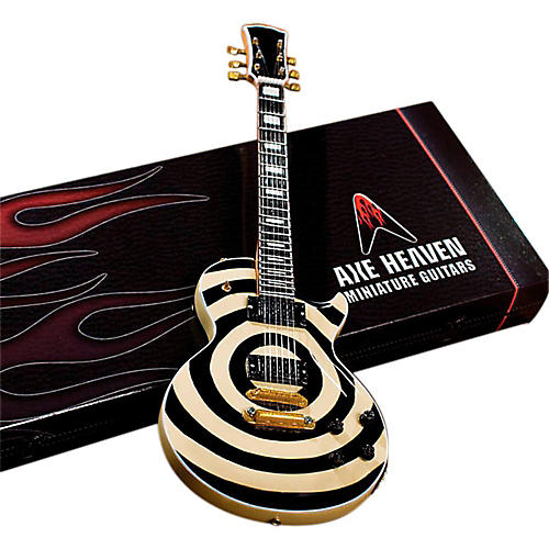 Axe Heaven Zakk Wylde Signature Cream Bullseye Les Paul Miniature Guitar Replica Collectible-thumbnail