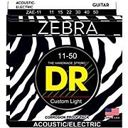 DR Strings Zebra Medium Lite Acoustic-Electric Guitar Strings