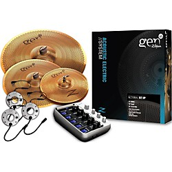 Zildjian Gen16 Buffed Bronze 368DS Acoustic-Electric Cymbal Pack (G16BS2DS)