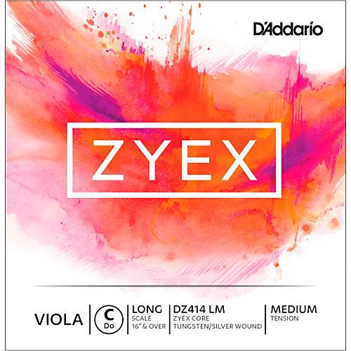 D'Addario Zyex Series Viola C String  16+ Long Scale Medium-thumbnail