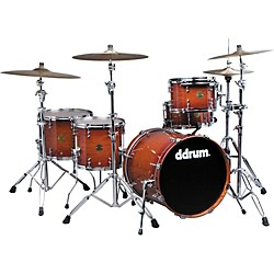 ddrum Dios Exotic Tiger Eye Bubinga 5-Piece Shell Pack (Dios ELB 20 BB KIT 712555)