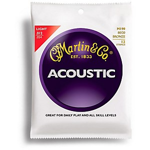 Martin-M190-12-String-80-20-Bronze-Light-Acoustic-Guitar-Strings-Standard