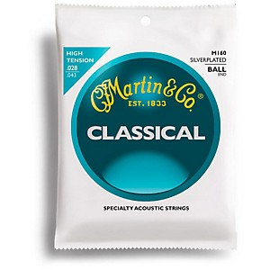 Martin-M160-Silverplated-Ball-End-High-Tension-Nylon-Classic-Guitar-Strings-Standard