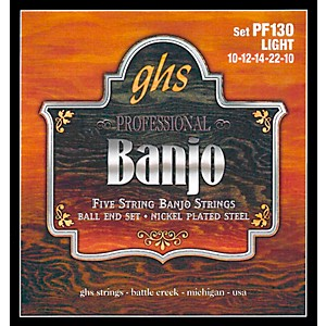 GHS-PF130-Nickel-Ball-End-5-String-Banjo-Strings-Standard