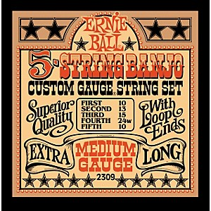 Ernie-Ball-2309-Medium-Gauge-5-String-Banjo-Strings-Standard