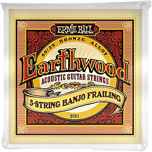 Ernie-Ball-2061-Earthwood-80-20-Bronze-5-String-Banjo-Frailing-Strings-Standard