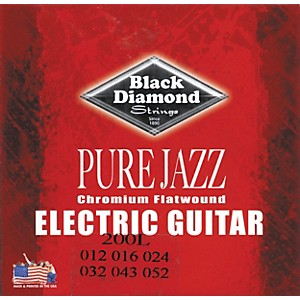 Black-Diamond-Pure-Jazz-Electric-Guitar-Chromium-Flat-Wound-Strings-Standard