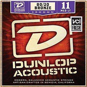 Dunlop-Medium-Light-80-20-Bronze-Acoustic-Guitar-Strings-Standard