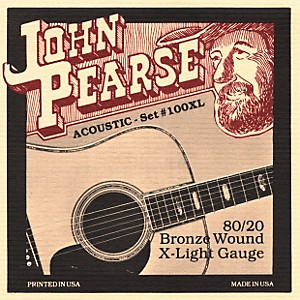 John-Pearse-100XL-80-20-Bronze-Acoustic-Guitar-Strings-Standard