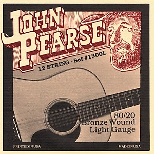 John-Pearse-1300L-12-String-80-20-Bronze-Acoustic-Guitar-Strings-Standard