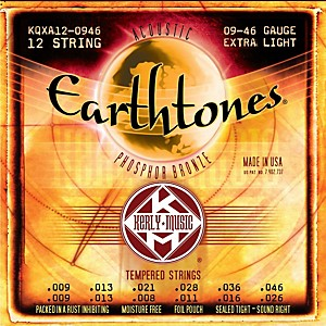 Kerly-Music-Earthtones-Phosphor-Bronze-12-String-Acoustic-Guitar-Strings---Extra-Light-9-46-Standard