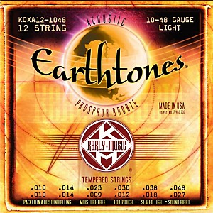 Kerly-Music-Earthtones-Phosphor-Bronze-12-String-Acoustic-Guitar-Strings---Light-10-48-Standard