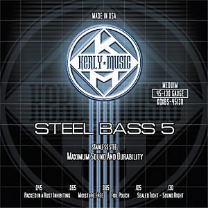 Kerly-Music-5-String-Bass-Strings---Stainless-Steel-Medium-Standard