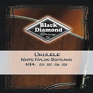 Black-Diamond-N54-White-Nylon-Soprano-Ukulele-Strings-Standard