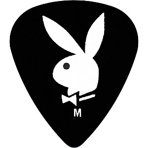 Clayton-Playboy-Guitar-Picks-12-Pack-Black-Heavy