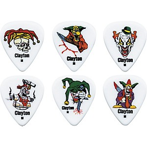 Clayton-Acetal-Crazed-Clown-Guitar-Picks-1-Dozen-Heavy