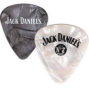 Peavey-Jack-Daniel-s-Pearloid-Guitar-Picks---One-Dozen-Black-Pearl-Heavy