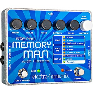 Electro-Harmonix-XO-Stereo-Memory-Man-with-Hazarai-Delay-Guitar-Effects-Pedal-Standard