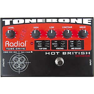 Radial-Engineering-Tonebone-Hot-British-Tube-Drive-Effects-Pedal-Standard
