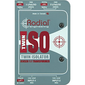 Radial-Engineering-TWIN-ISO-Passive-Line-Level-Isolator-Standard