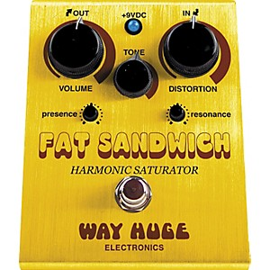 Way-Huge-Electronics-WHE301-Fat-Sandwich-Harmonic-Saturator-Distortion-Guitar-Effects-Pedal-Standard