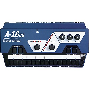Aviom-A-16CS-Control-Surface-Remote-Control-for-A-16R-Mixer-Aviom-Blue