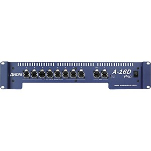 Aviom-A-16D-Pro-A-Net-Distributor-and-DC-Power-Source-Aviom-Blue